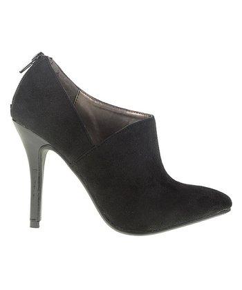 Black Notched Bootie
