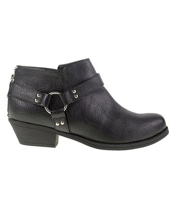 Black Buckle Ankle Boot