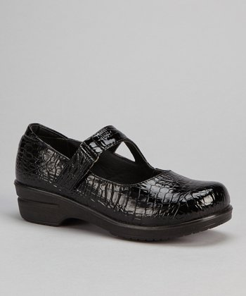 Black Patent Croco Mary Jane