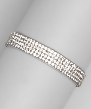 Gray Crystal Ribbon Bracelet