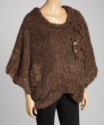 Ecru Linen-Blend Cape-Sleeve Sweater - Women