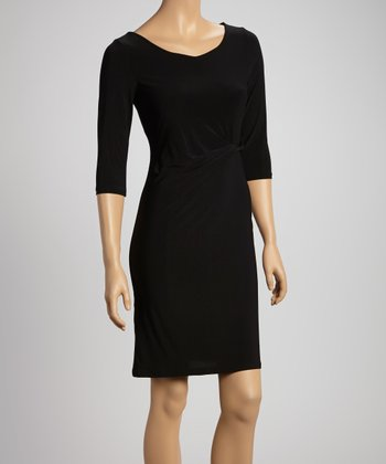 Black Twist Sheath Dress