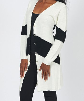 White Stripe Duster
