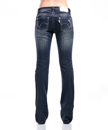 Onyx Blue Rose Jeans - Women