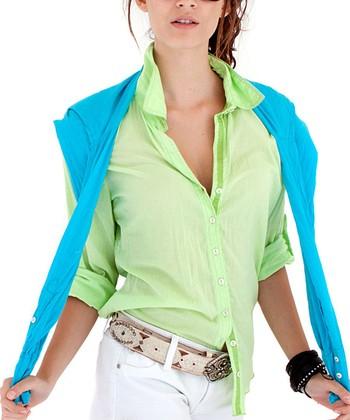 Cino Lime Button-Up - Women