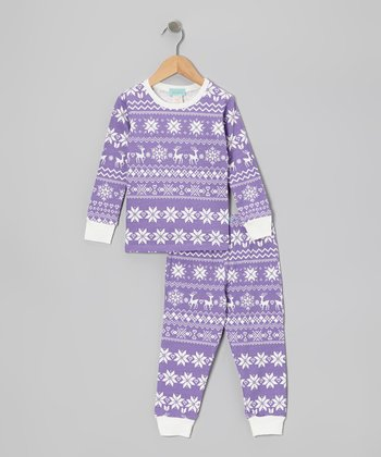 Purple Fair Isle Pajama Set - Toddler