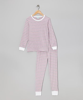 Ivy League Stripe Pajama Set - Toddler & Girls