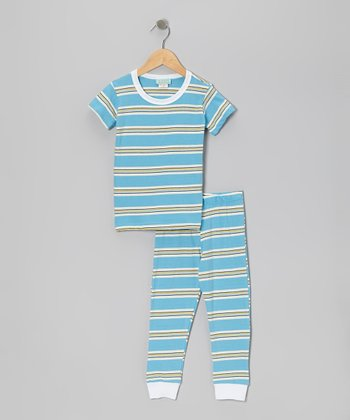 Blue Coney Island Pajama Set - Toddler
