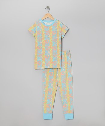 The Sea Pajama Set - Toddler & Girls