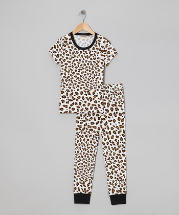 Gold Spot On Short-Sleeve Pajama Set - Girls