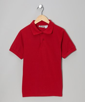 Red Pique Polo - Boys
