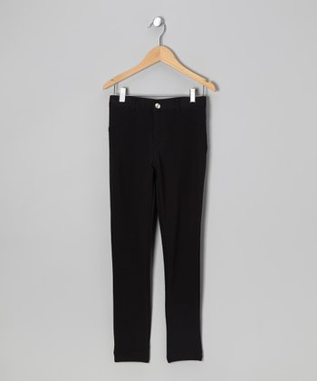 Black Moleton Pants - Girls