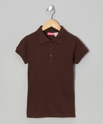 Brown Johnny Pique Polo - Girls