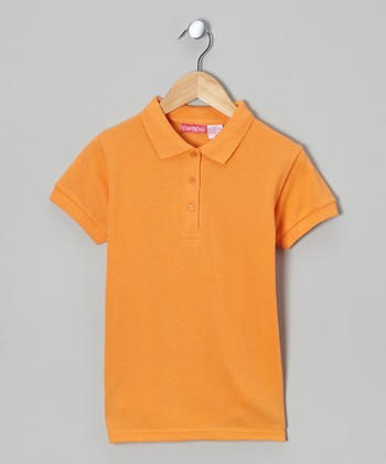 Coral Johnny Pique Polo - Girls