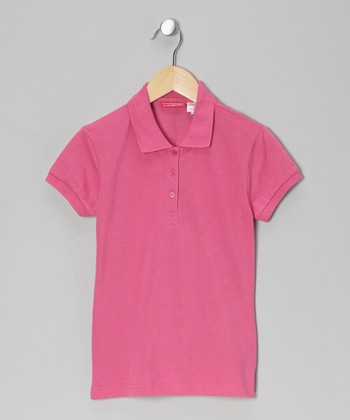 Hot Pink Johnny Pique Polo - Girls