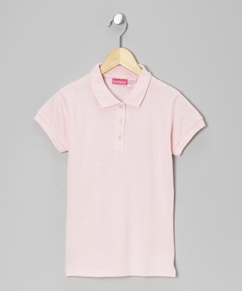 Rosy Pink Johnny Pique Polo - Girls