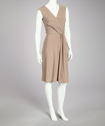 Mocha Surplice Dress