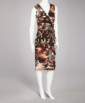 Black & Copper Sleeveless Dress - Women