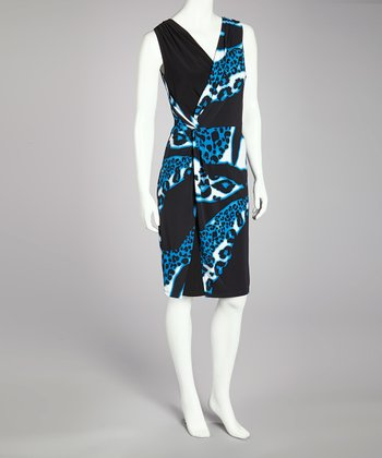 Blue Abstract Dress