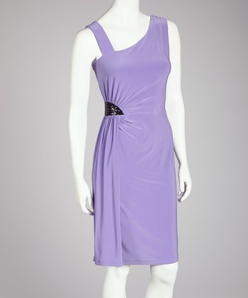 Lilac Asymmetrical Dress