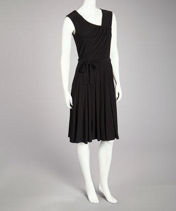 Black Tie-Waist Dress - Women