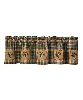 Scotch Pine Patch Lined Valance