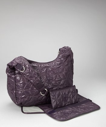 Purple Glam Banana Diaper Bag