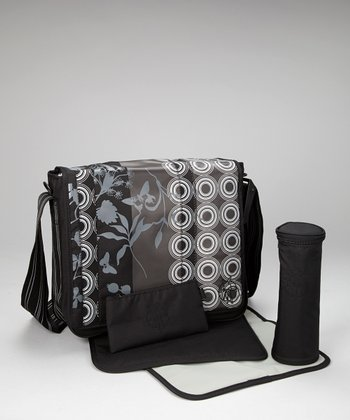 Colorpatch Black Casual Messenger Diaper Bag