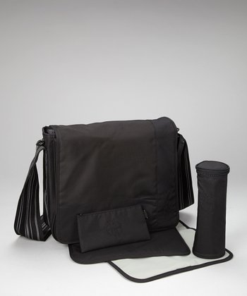 Patchwork Black Casual Messenger Diaper Bag