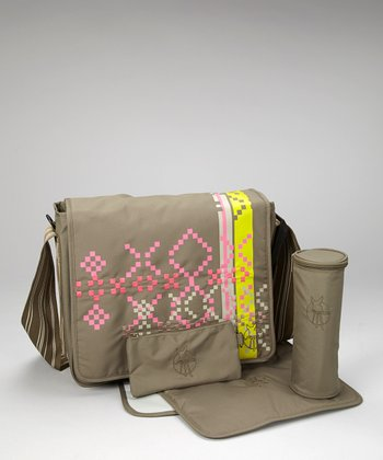 Indie Olive Casual Messenger Diaper Bag