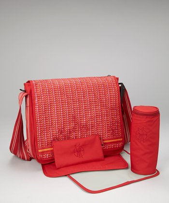 Petite Flaming Casual Messenger Diaper Bag
