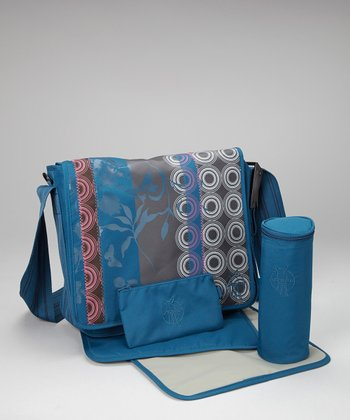 Colorpatch Petrol Casual Messenger Diaper Bag