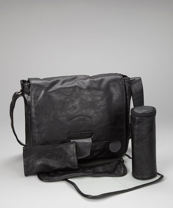 Black Tender Messenger Diaper Bag
