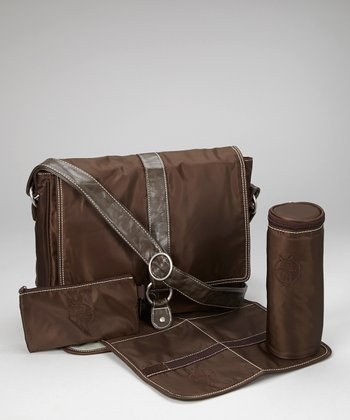 Chocolate Small Messenger Diaper Bag