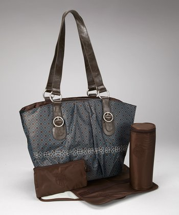 Chocolate Glam Whizzy Diaper Bag