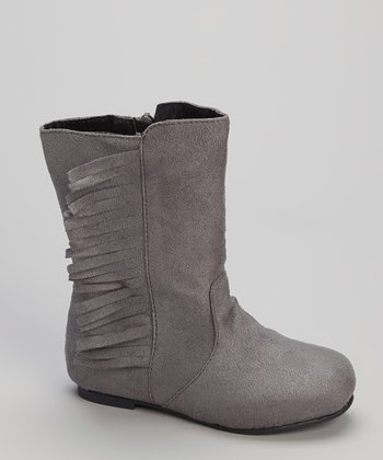 Gray Fringe Boot