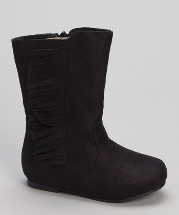 Black Fringe Boot