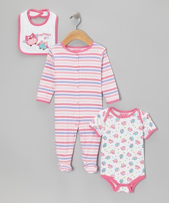 Pink 'Mommy's Girl' Footie Set - Infant