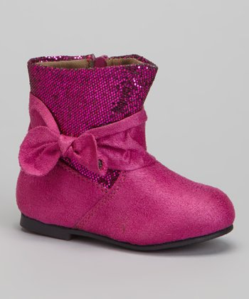 Berry Shimmer-Top Boot