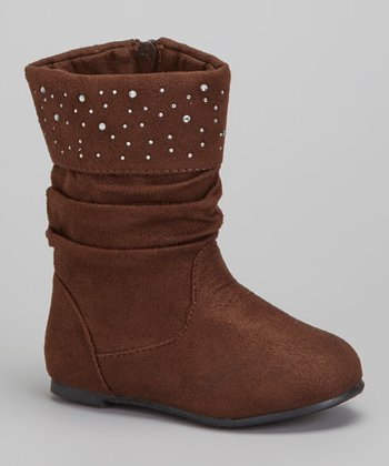 Brown Shimmer Slouch Boot