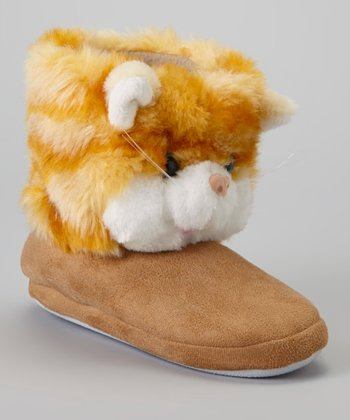 Brown Cat Slipper Boot