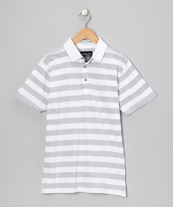 White Stripe Polo - Infant & Boys