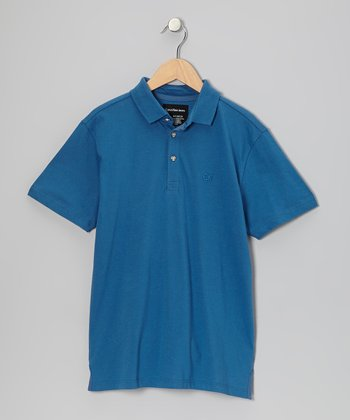 Slate Blue Polo - Infant, Toddler & Boys