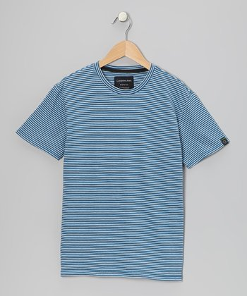 Blue Stripe Tee - Infant