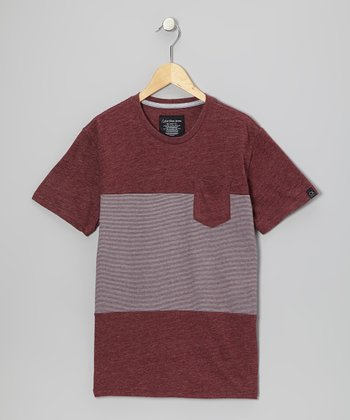 Heather Rose Color Block Tee - Boys