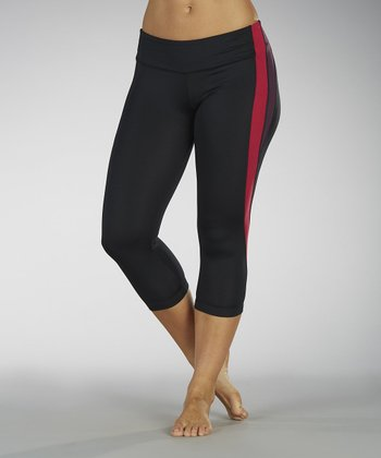 Wild Berry Pieced Capri Leggings