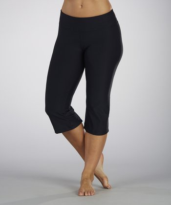 Black Back Slit Capri - Women