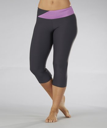 Sorbet Purple Crisscross Bliss Capri Pants - Women