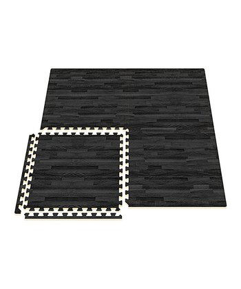 Black Comfort Mat - Set of 16