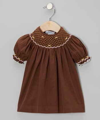 Brown Lucy Bishop Dress - Infant